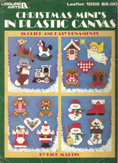 Leisure Arts Leaflet 1059 Christmas Mini's in Plastic Canvas #1PCSC