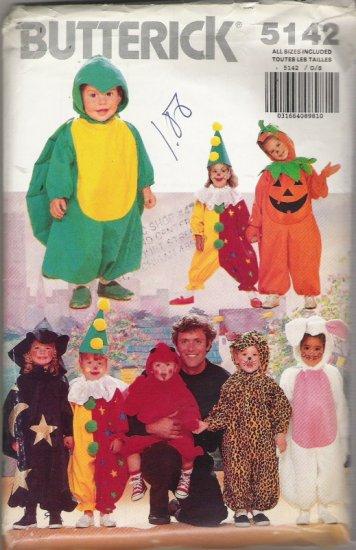 Butterick 5142 Halloween Pattern Childrens' Sizes 1,2,3,4,5,6