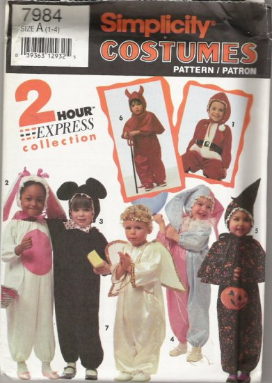 "Simplicity Costumes 7984 ""2 Hour Express Collection"" Childrens Sizes 1-4"