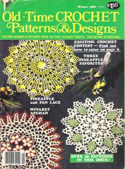 Old-Time Crochet Patterns & Designs Magazine Winter 1982
