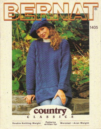 Bernat Country Classics Sweater for Man and Woman Leaflet 1405