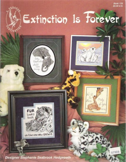 Extinction is Forever Cross Stitch Craft Book 178