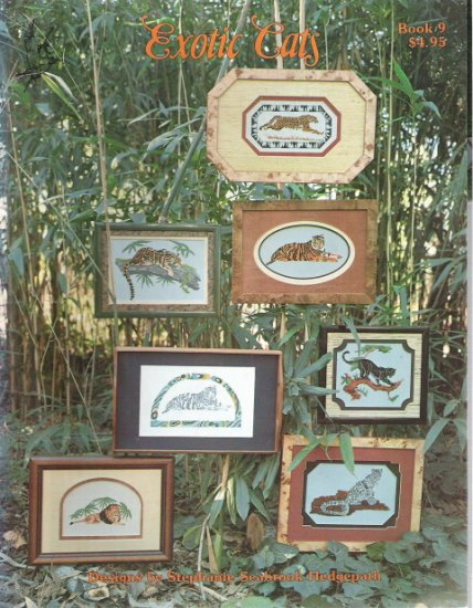 Exotic Cats Book 9 Counted Cross Stitch Book by Stephanie Seabrook Hedgepath