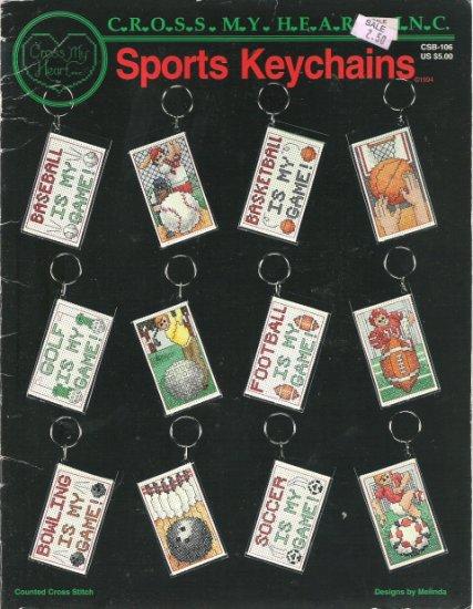 Cross My Heart Sports Keychains Cross Stitch Leaflet