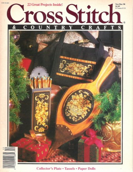 Cross Stitch & Country Crafts Magazine November/December 1990