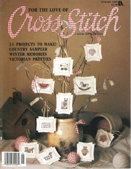 For the Love of Cross Stitch Magazine January 1989