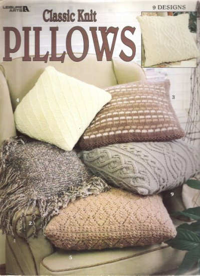 Leisure Arts Classic Knit Pillows Craft Book