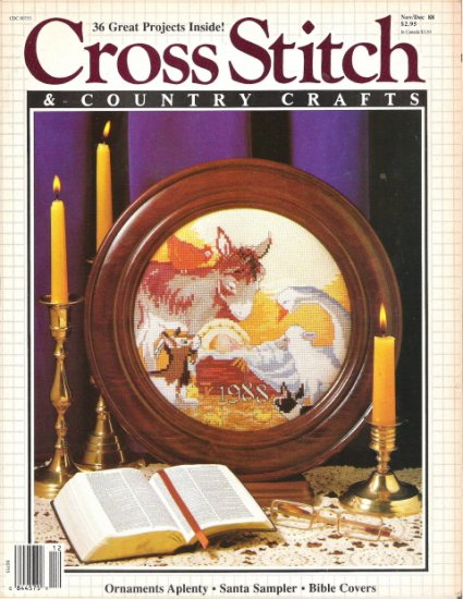 Cross Stitch & Country Crafts Magazine November/December 1988