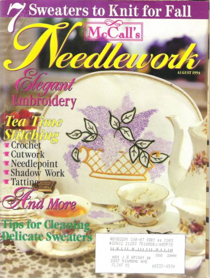 McCall's Needlework Magazine August 1994