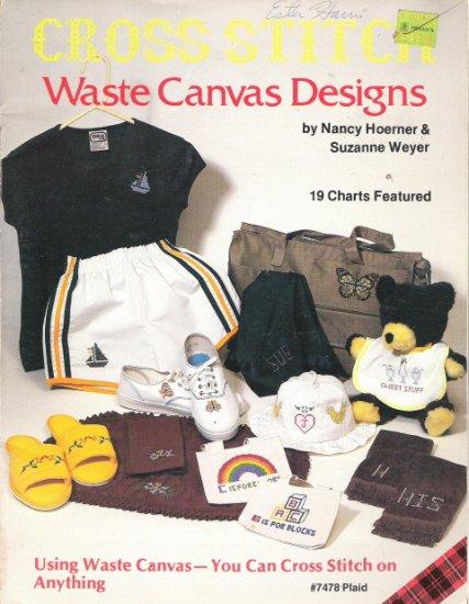 Cross Stitch Waste Canvas Designs by Plaid Leaflet 7478