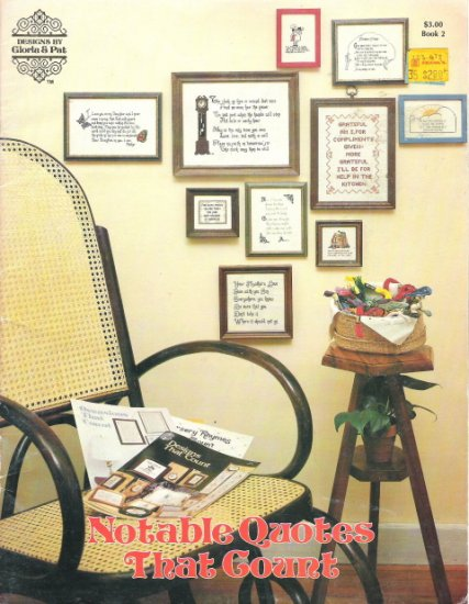 Notable Quotes That Count Cross Stitch Book 2
