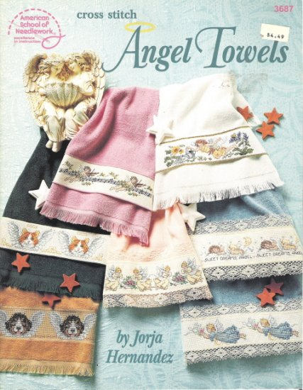 Cross Stitch Angel Towels by Jorja Hernandez and the American School of Needlework