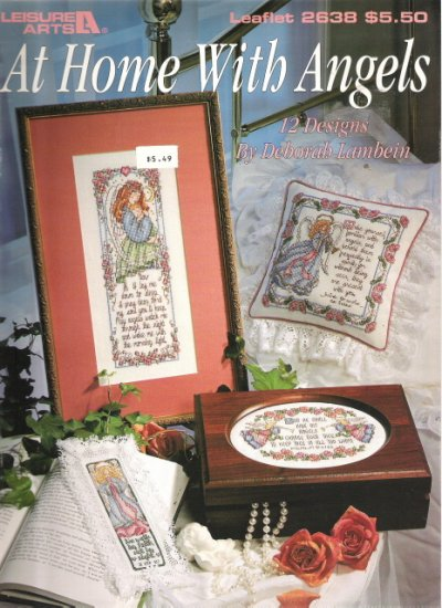 Leisure Arts Leaflet 2638 At Home With Angels