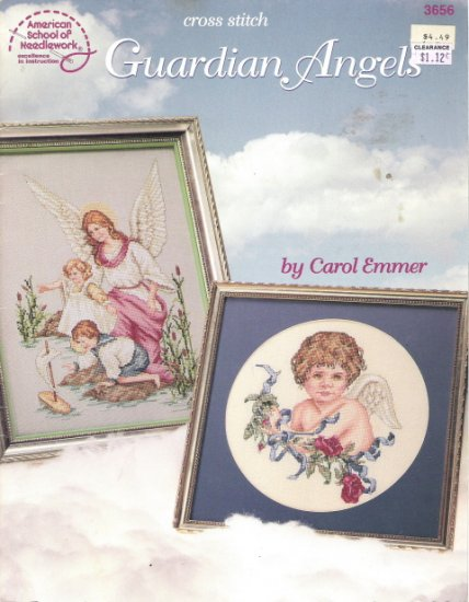 Cross Stitch Guardian Angels by Carol Emmer and the American School of Needlework
