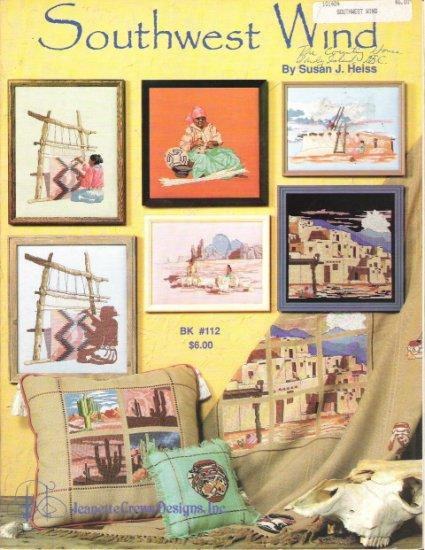 Southwest Wind Designs by Susan J. Heiss Cross Stitch Book