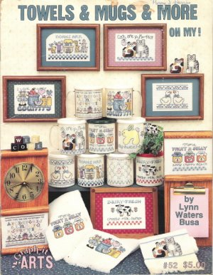 Towels & Mugs & More Oh My! Cross Stitch Book