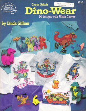 American School of Needlework #3636 Cross Stitch Dino-Wear by Linda Giffum
