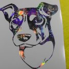 Brazilian Terrier Fox Paulistinha Dog Breed Holographic Fireworks Vinyl Car Window Laptop Decal