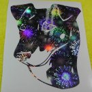 Manchester Terrier England Gentleman's Victorian Dog Holographic Fireworks Car Window Laptop Decal