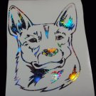 Australian Stumpy Tail Cattle Dog Breed Blue Heeler Holographic Fireworks Car Window Laptop Decal