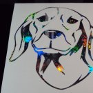 SIBERIAN HOUND Dog Breed Holographic Fireworks Car Window Laptop Decal