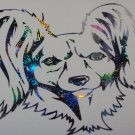 Russian Russkiy Toy Terrier Manchester Dog Breed Holographic Fireworks Car Window Laptop Decal