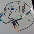 Labrador Retriever Dog Breed Lab Holographic Fireworks Car Window Laptop Decal Sticker