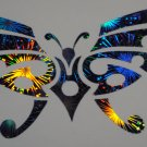 Tribal Butterfly Street Design 377 Holographic Fireworks Car Window Laptop Decal Sticker