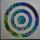 """8"""" TARGET Holographic Bubbles Car Window Laptop Decal Sticker"""