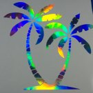 PALM TREES Tree Pair Holographic Car Window Decal Sticker Beach Tropical bright