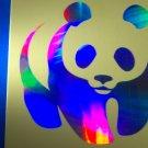 PANDA BEAR Car Window Laptop X-box Holographic Decal Sticker bright