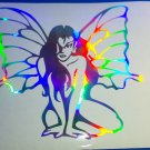 Holographic Pixie Fairy Vinyl Car Window Decal Laptop Sticker Butterfly Lady bright Fairies