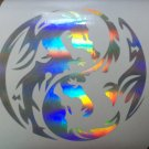 Holographic Chinese Tribal Dragon Car Window Laptop Decal Sticker