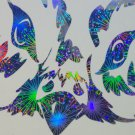Holographic Fireworks Owl Vinyl Car Window Laptop Decal Sticker