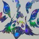 Holographic Fireworks Owl Vinyl Car Window Laptop Decal Sticker