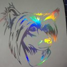 Holographic Chinese Crested Dog Vinyl Car Window Decal Sticker