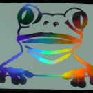Holographic Tree Frog Vinyl Car Window Decal Sticker Laptop