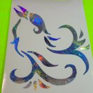 Holographic Firework Tribal Bird #86 Vinyl Car Window Decal Sticker