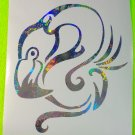 Holographic Fireworks Flamingo Vinyl Car Window Decal Sticker