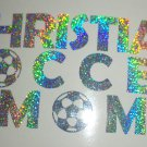 Holographic Sparkle Christian Soccer Mom Car Window Laptop Decal Sticker