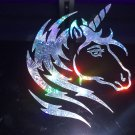 "10"" Holographic Fireworks UNICORN Car Window Laptop Decal Sticker"