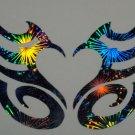 Holographic Fireworks Tribal Heart 56 Street Design Vinyl Car Window Decal