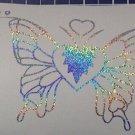 Holographic Stardust Butterfly Hearts Butterflies Vinyl Car Window Decal Sticker
