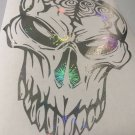 Holographic Fireworks Skull Brain Decal Sticker