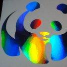 Holographic PANDA BEAR Vinyl Car Window Laptop Motorcycle Sticker