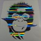 Holographic Ripple 10 inch Orangutan Monkey Vinyl Car Window Decal Sticker