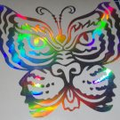 Holographic Tiger Butterfly Tiger Eyes Vinyl Car Window Decal Sticker