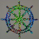 Custom Holographic Bubbles Nautical Ship Wheel Vinyl Car Decal Sticker Di Cut