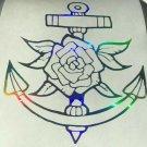 Custom Holographic Ship Boat Rose Anchor Nautical Vinyl Car Window Decal Di Cut