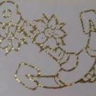 Custom Gold Mosaic Nautical Ship Boat Flower Anchor Vinyl Car Decal Sticker